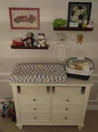 Wall Changing Tables For Babies by Nursery Shelving Above Changing Table Gallery Wall By