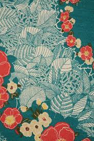 Flower Fabric Design Pretty Floral And Leaf Fabric Seafoam Coloured Background With