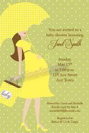 modern day baby shower invitation w yellow dress green