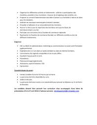 emploi chambre de commerce offre d emploi coordination chambre de commerce brandon chambre