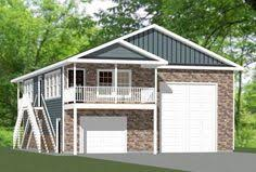 Rv Garage Apartment 2628 Rambler Plan With An Attached Rv Garage Exteriors By Gnw