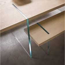 tavoli design cristallo panca di design in legno e cristallo glassy arredaclick