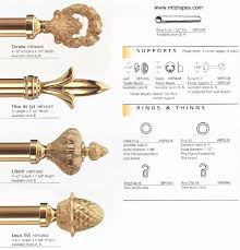 Decorative Curtain Finials Empire Brass Curtain Rods Rings Finials U0026 Brackets Easy