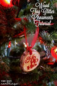 wood glitter ornaments tutorial with recollections
