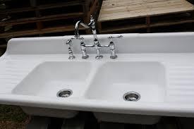 Amazing Antique Cast Iron Kitchen Sink Faucets Homey With - Cast iron kitchen sinks with drainboard