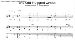 Old Rugged Cross Music Old Rugged Cross Tab Rugs Ideas