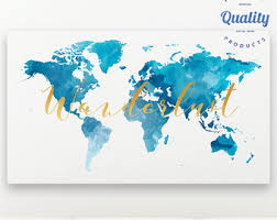 Free Shipping Home Decor Gold World Map Canvas Print Free Shipping Home Decor
