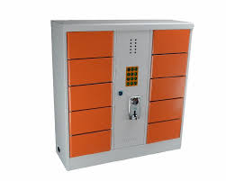 Charging Shelf 10 Storage Bins Smart Phone Charge Box Station With Lock Box Cell