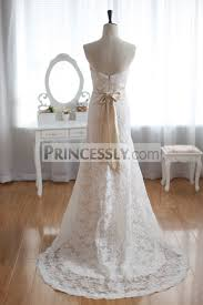 Champagne Wedding Dresses Vintage Inspired French Corded Lace Wedding Dress Champagne Lining