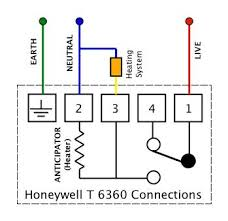 honeywell thermostat wiring diagram rth2510 circuit and