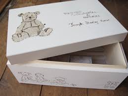 wooden baby keepsake box u ni k memories to be cherished in a box or a book