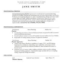 Plumber Resume Eop Academic And Career Resource Center Resume And Cover Letter
