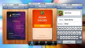 Business Cards App For Iphone Cardflick Creates And Sends Digital Business Cards From Your Iphone