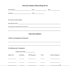 personal training forms templates beautifuel me