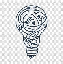 concept of ideas light bulb with different wires icon royalty