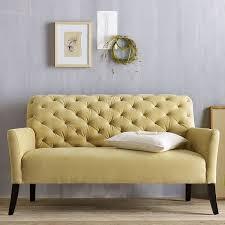 Yellow Sofa Bed Elton Settee Tufted Yellow Sofa