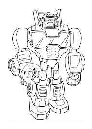 bot coloring pages for kids printable free rescue bots