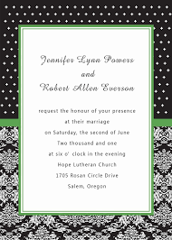 unique white and black damask green printable cheap wedding