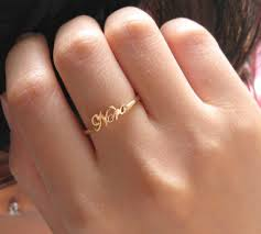 Name Ring Gold Jewels Name Ring Silver Jewelry Initial Name Ring Memorial