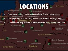 Map Of Concentration Camps Concentration Camps By Putnamela