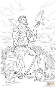 saint francis of assisi coloring page free printable coloring pages