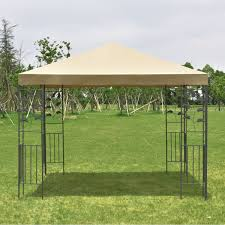 Steel Canopy Frame by 10 U0027 X 10 U0027 Outdoor Square Steel Frame Gazebo Canopy Tent Canopies