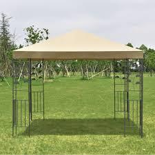 Patio Tent Gazebo by 10 U0027 X 10 U0027 Outdoor Square Steel Frame Gazebo Canopy Tent Canopies