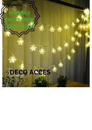 Led Snowflake Lights Outdoor by 20 Led Snowflake Lights Lamps Battery Operated And Products