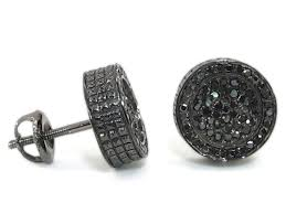 mens black diamond earrings black diamond earrings for guys the special black diamond