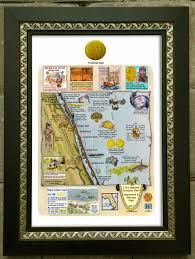 Florida Shipwrecks Map by Dateline St Augustine Florida Limited Edition Tiles Available