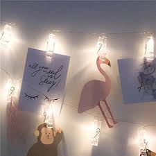 string lights with picture clips 30 led photo clips string lights wedding party christmas indoor