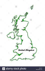outline map of the united kingdom of england scotland northern