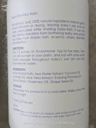 Top To Toe A Little Bit Of Everything Envirohome Top To Toe Baby Wash Review