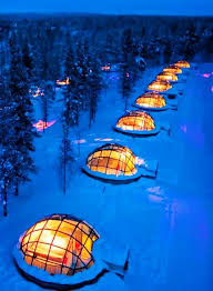vacation to see the northern lights you can rent a glass igloo in finland to watch the northern lights