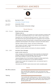 Retail Store Manager Resume Example by Retail Associate Resume Samples Visualcv Resume Samples Database