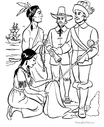 thanksgiving story coloring pictures 015