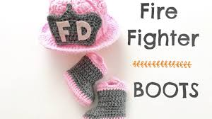 Firefighter Safety Boots by How To Crochet Fire Fighter Boots 0 3 Months Youtube