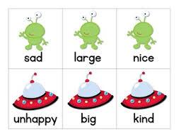 antonyms space creature synonyms antonym synonym activities