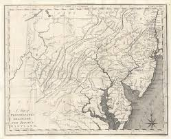 A Map Of Pennsylvania by A Map Of Pennsylvania Delaware New Jersey U0026 Maryland With The