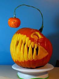 Best Halloween Pumpkin Carvings - angler fish pumpkin carving ideas