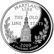 First State Quarters Of The United States Collectors Map by Maryland State Quarter U S Mint