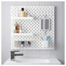 Peg Board Shelves by Skådis Pegboard Combination White 56x56 Cm Ikea