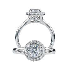 engagement rings with halo ritani for forevermark halo platinum semi mount engagement