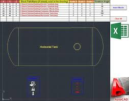 autocad tutorial with exle insert blocks in autocad using excel vba my engineering world