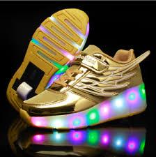 heelys light up shoes kids led boys girls wheels shoes skates heelys light up roller skate