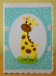 handmade birthday card marianne collectables giraffe die for