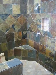 Slate Tile Bathroom Shower Slate Bathroom Multicolor Slate Shower 346