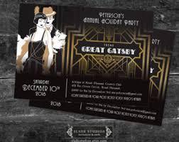 Gatsby Invitations Gatsby Invitation Etsy