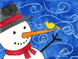 paint a snowman art projects for kids
