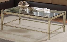 coffee table metal and glass coffee table for living room glass